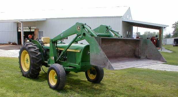 Tractor Loader Boom Middle Steeering : John deere diesel tractor with loader for sale