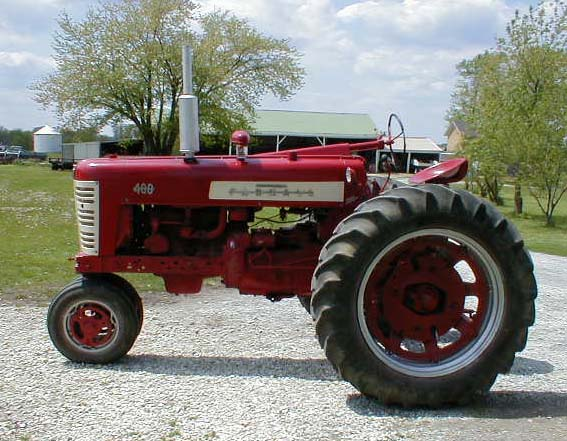 Farmall 400 Tractor : Farmall tractor narrow front with power steering