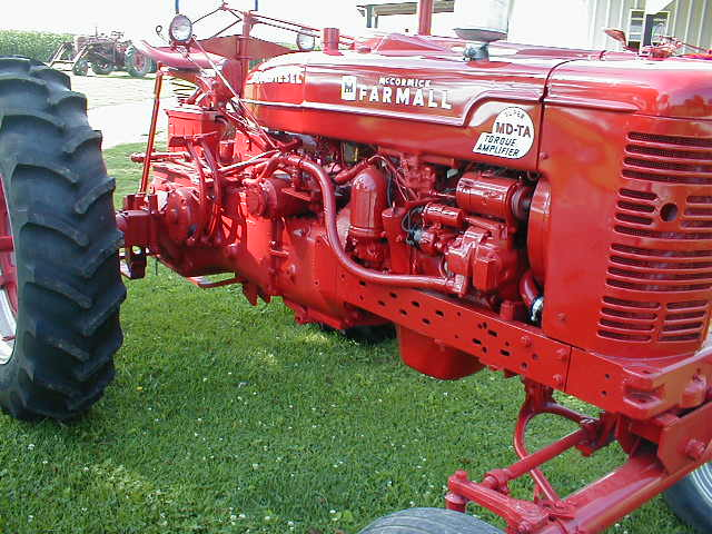 Farmall M Hood : Farmall super mta diesel tractor with wide front for