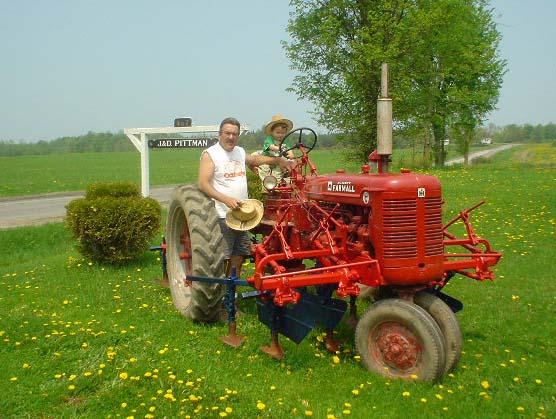 Farmall Super A Cultivator : Farmall super c with plow and cultivator
