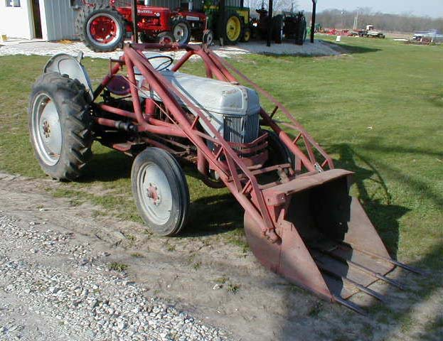 1949 Ford 8n Tractor With Dearborn Trip Loader For Sale
