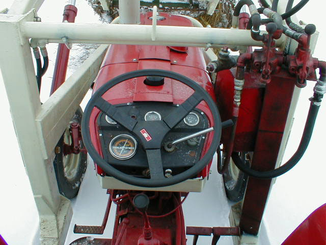 International 444 Tractor Seat : Ih international harvester utility tractor with