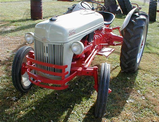Ford 8n Tractor Front Tires : Restored ford n tractor with front bumper for sale