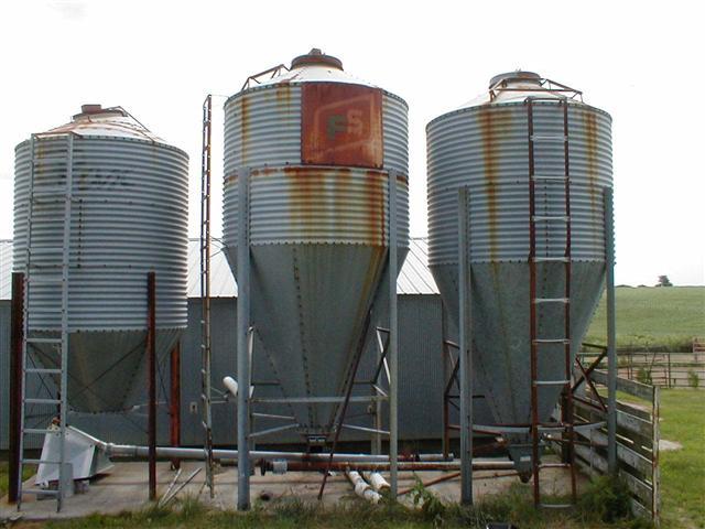 sc 1 st  Chats Tractors & 3 Metal Storage bins for ethanol still grain storage for sale