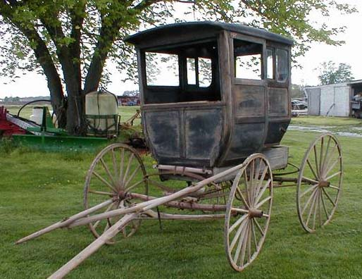 Antique Horse Drawn Wooden Postal Wagon For Sale