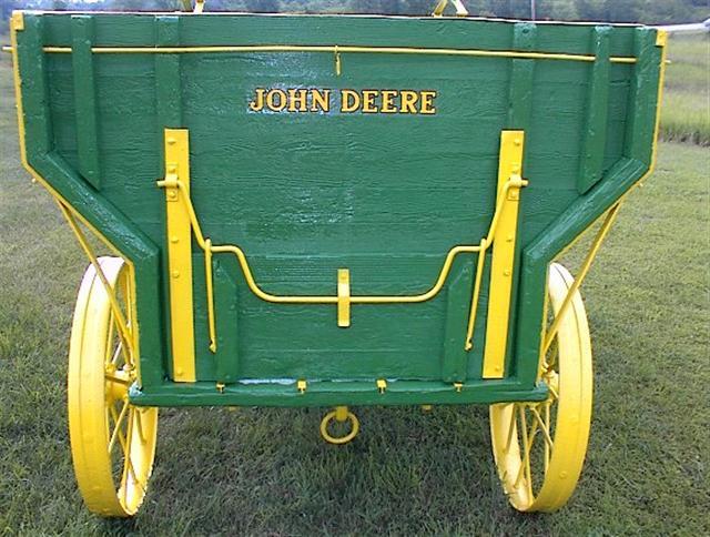 Antique John Deere Seat : Restored antique john deere flare box wooden wagon with