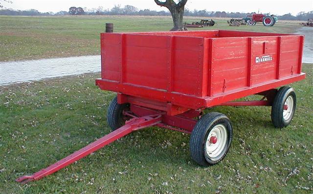 Compact Farm Wagons : Little red farmall box wagon