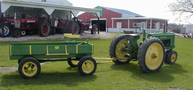 Tractor Parade Seat : John deere farm or parade wagon with spoke wheels and