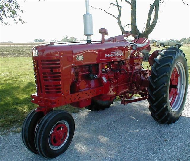 Restored farmall 400 tractor with factor power steering for sale