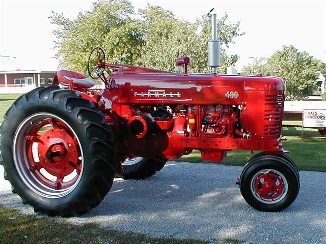 Farmall 400 Tractor Parts : Restored farmall tractor with factor power steering