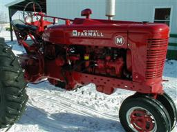 Restored 1941 Farmall M tractor from Chats Tractors