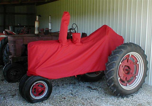 Farmall Row Crop Tractor Covers on Kubota Tractors
