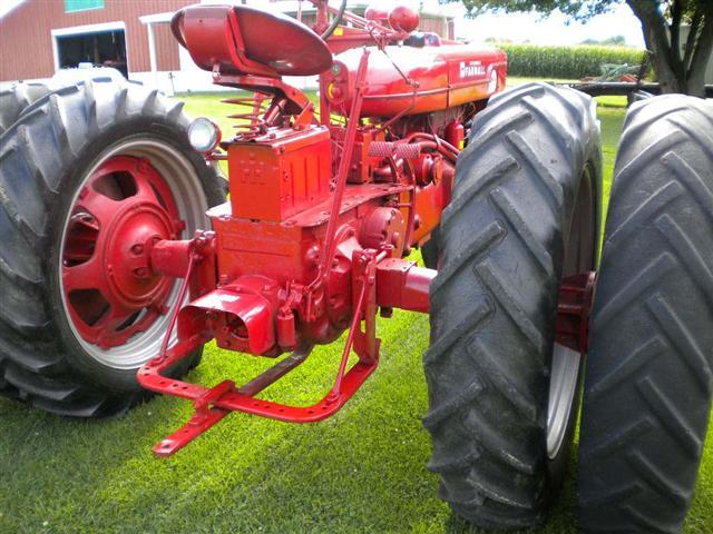 Farmall Rear Rims : Restored farmall super mta tractor with dual wheels for sale