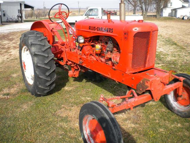 Allis Chalmers Wd45 : Ac allis chalmers tractor for sale