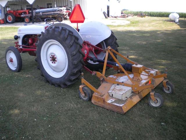 1949 Ford 8n tractor with woods finish mower for sale