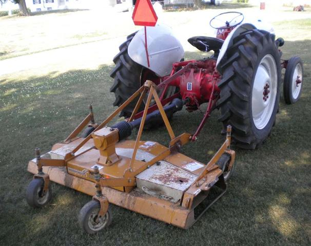 Woods Finish Mower : Ford n tractor with woods finish mower for sale