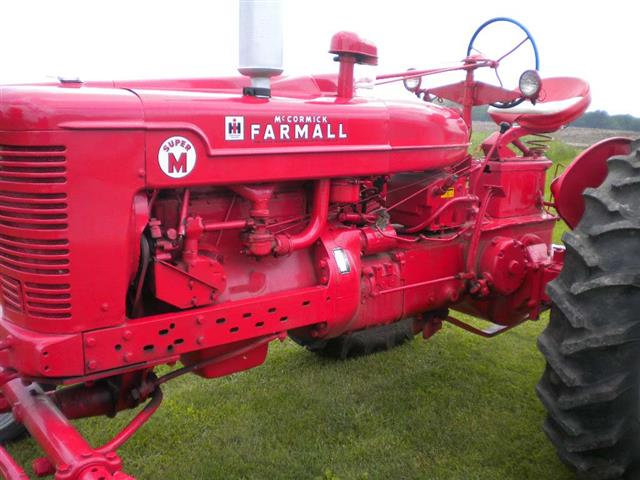 Farmall M Controls : Live hydraulics crossover general ih red power