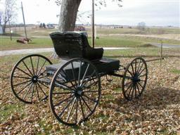 Antique John Deere Studebaker IH Wooden wheel Farm Wagons