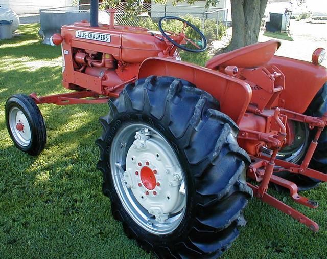 Allis Chalmers D Left Rear Profile on Allis Chalmers Garden Tractors Sale