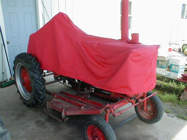 Red Farmall Tractor Covers Right Profile