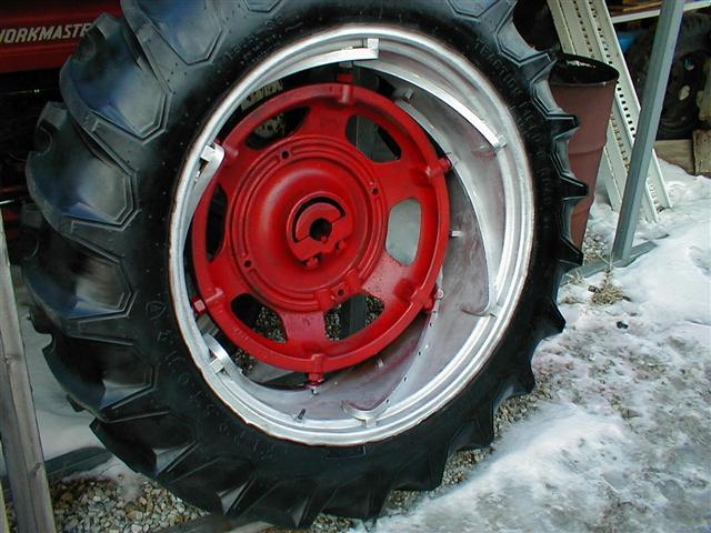 Farmall Rear Rims : Farmall spin out rear rims and tires for sale
