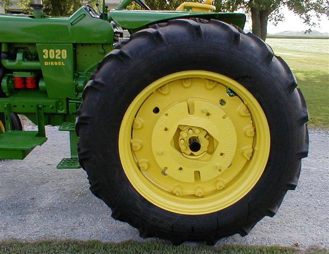 John Deere Tractor Tire Rims : John deere model diesel tractor with wide front for sale